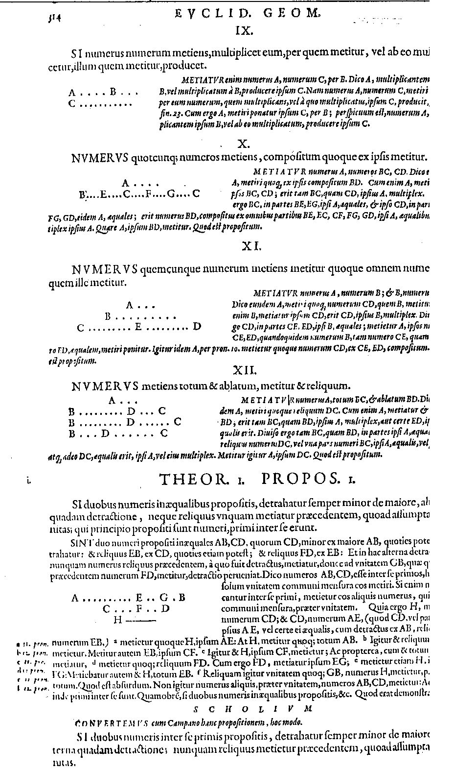Notes on euclid